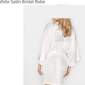 Victoria's Secret Bridal Satin White Robe
